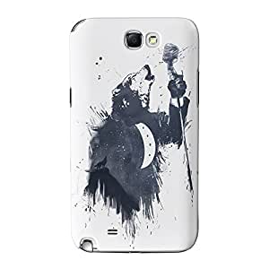 Wolf Song 3 Full Wrap High Quality 3D Printed Case for Samsung Galaxy Note 2 by Balazs Solti + FREE Crystal Clear Screen Protector