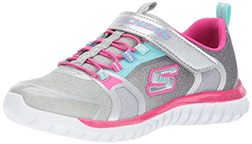 (Skechers Kids Girls' Speed Trainer-Glimmer Time Sneaker,Gray/Multi,)