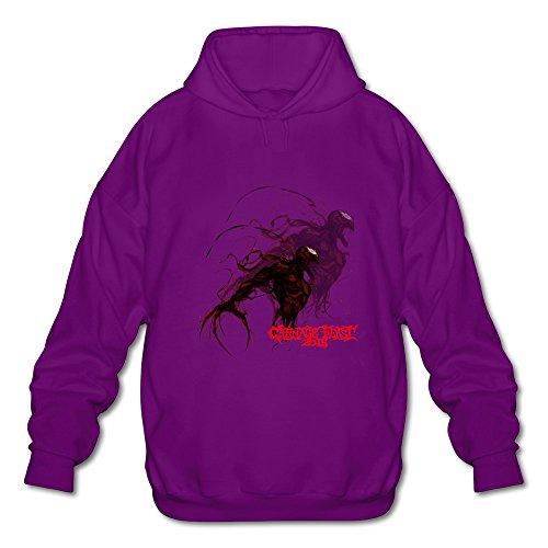[AOPO Carnage Comic Men's Long Sleeve Hooded Sweatshirt / Hoodie Medium Purple] (Cosplay Costume Making)