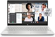 HP Pavilion 15-inch FHD Laptop, 10th Gen Intel Core i7-1065G7, 16 GB RAM, 512 GB Solid-State Drive, Amazon Ale