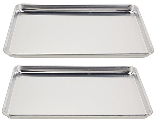 Vollrath (5303) Wear-Ever Half-Size Sheet Pans, Set of 2 (18-Inch x 13-Inch x 1-Inch, (Bakers Rack Natural Finish)