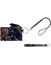 DONGGANGAJI Womens Wallet Lanyard Wristlet Straps Set RFID Protection Zipper Case Wallet with Lanyard