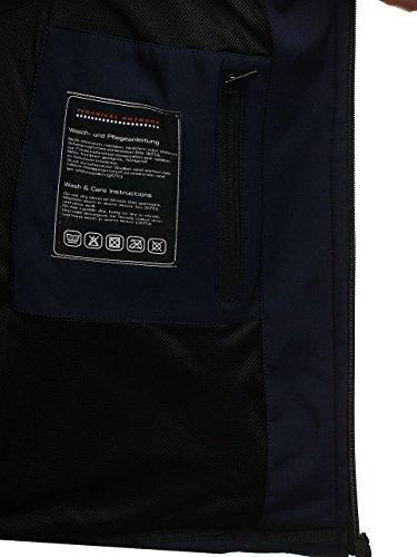 Estilo Softshell de Entretiempo Oscuro Chaqueta Deportivo BOLF Hombre 4D4 Azul pqTvIS