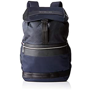 Tommy Hilfiger Nylon Mix Flap Backpack, Men's Wallet, Blue (Tommy Navy), 17x46x35 cm (W x H x L)