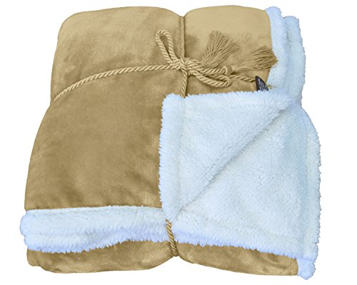 o Mink Fleece Sherpa Bed Throw TV Blanket 50