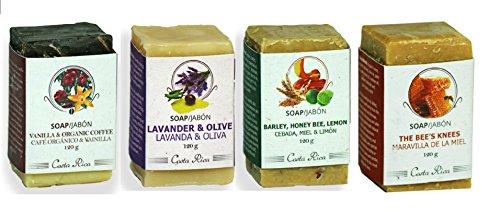 Monteverde Natural Cosmetics 4 soap kit: Vanilla & Organi...