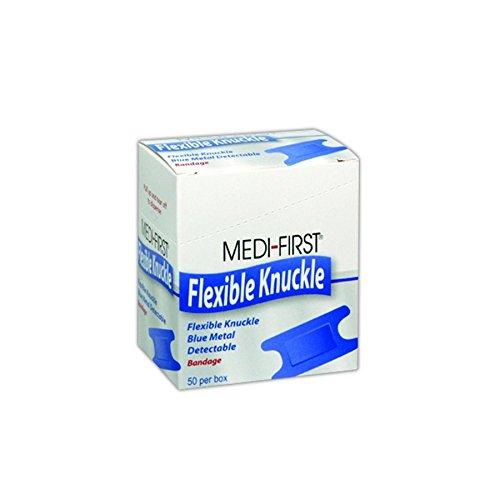 Medique MP65250 Medi-First Blue Metal Detectable Knuckle Bandages, 1
