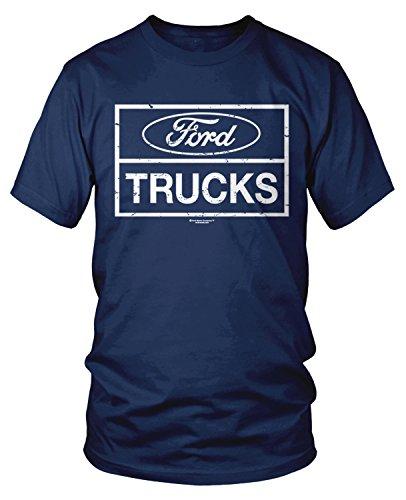 Amdesco Men's Ford Trucks, Officially Licensed Ford T-Shirt, Navy Blue 2XL (Ford Flathead V8 Crate Engine For Sale)