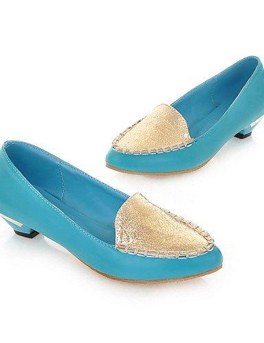 ZQ YYZ Zapatos de mujer - Tac¨®n Bajo - Bailarina - Planos - Oficina y Trabajo / Vestido / Casual - Semicuero / Microfibra - Negro / Azul / Rojo , red-us10.5 / eu42 / uk8.5 / cn43 , red-us10.5 / eu42  blue-us9 / eu40 / uk7 / cn41