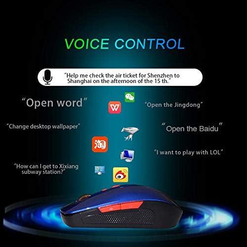 Finetoknow 2.4G Wireless Smart Voice Mouse Voice Control Enter Key Multi-Language USB Charging Mouse