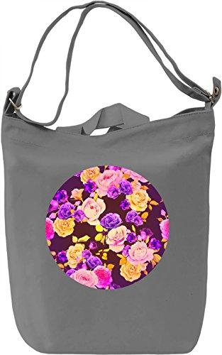 Colourful Roses Borsa Giornaliera Canvas Canvas Day Bag| 100% Premium Cotton Canvas| DTG Printing|