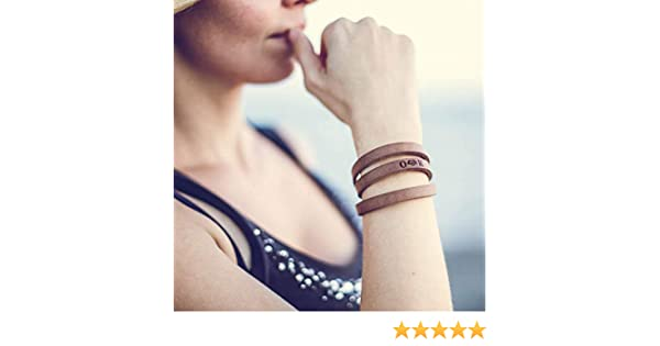 Wrap brown leather custom bracelet for women engraved with any personalized text inside and outside engraved adjustable boho style wrap bracelet