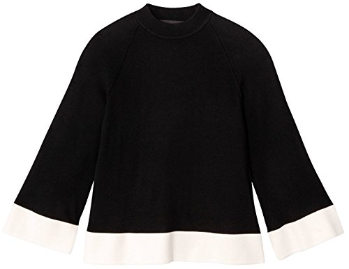 Victoria Beckham - Victoria Beckham Women's Black and White High Neck Sweater Top (2X)