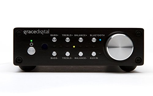 Grace Digital GDI-BTAR513 100 Watt Digital Integrated Stereo Amplifier with Built-In AptX Bluetooth Wireless Stereo Receiver by Grace Digital