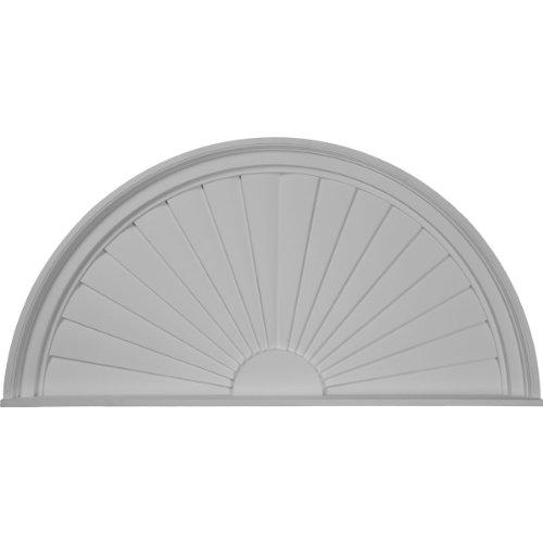 Round Half Sunburst (Ekena Millwork PED40X20X02SB 40-Inch W x 20-Inch H x 2-Inch P Half Round Sunburst Pediment)