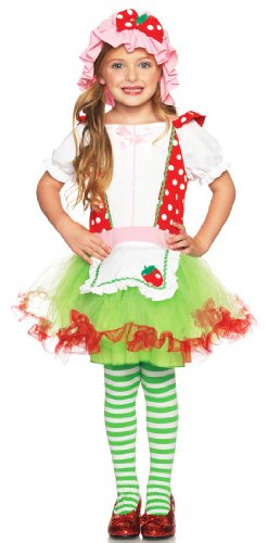 Leg Avenue Costumes 2Pc.Strawberry Sweetie Apron Dress, (Strawberry Sweetie Dress Child Costumes)