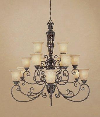 (Designers Fountain 975815-BU Amherst 15 Light Chandelier, 42