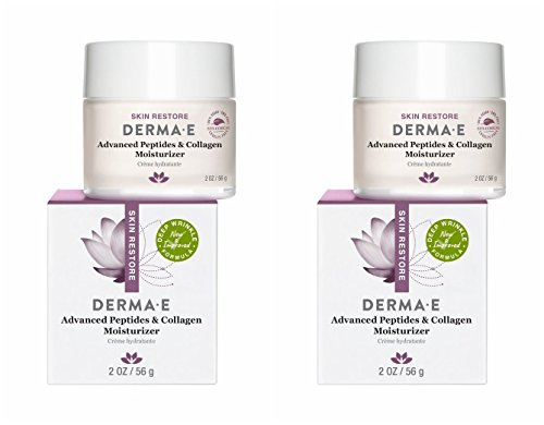Peptides Green Tea (Derma E Advanced Peptide and Collagen Moisturizer (Pack of 2) With Anti-Aging Antioxidants, Macadamia, Green Tea, Witch Hazel, Jojoba and Matricaria, For Normal to Dry Skin, 2 oz.)