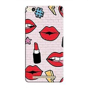 Cover It Up Lipstick Stickers Wall Hard Case For Redmi 3S, Multi Color
