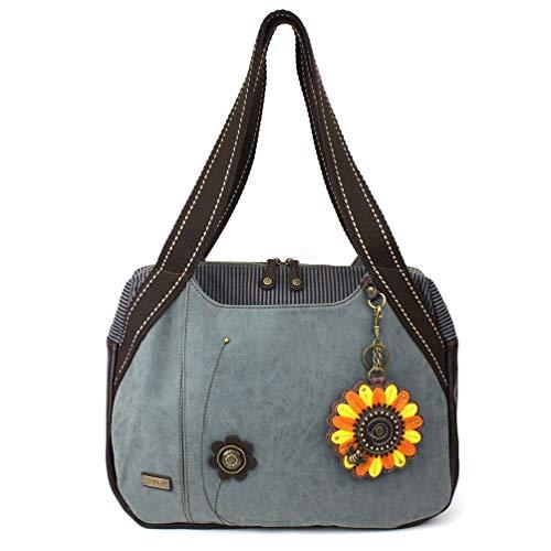 - Chala Handbags Sunflower Bowling Bag Handbag Purse (Indigo)