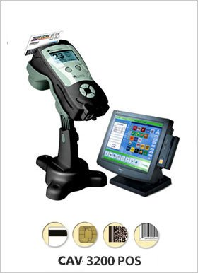 Cardcom / Viage CAV-3200 POS Dual UPC and ID/DL Reader at the Point of Sale
