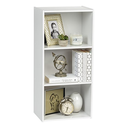 IRIS 3-Tier Wood Storage Shelf, White