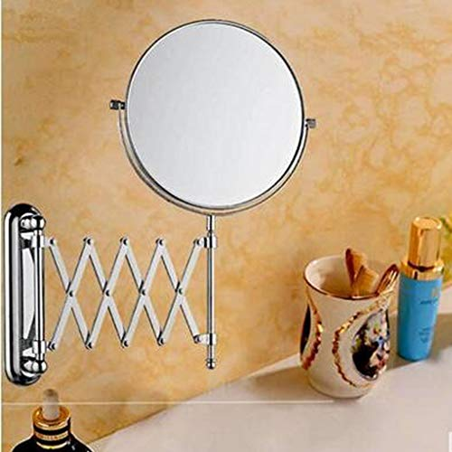 Cavoli 6 Inches Double-sided Wall Mount Scalable Mirror with 3x Magnification,Chrome Finish(6 inch,3x) by Cavoli (Image #2)