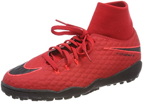 NIKE Youth Hypervenomx Phelon III DF Turf Shoes [University RED] (4Y)