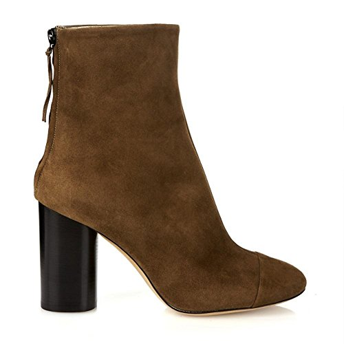 Zapatos Ronda eur35uk3 5 Nvxie Brown 5 Eur Tobillo Otoño Botas Gamuza Alto uk Cómodo Spring Talón 4 Áspero 37 Cabeza Negro Marrón Invierno Mujeres wxYqx0gp