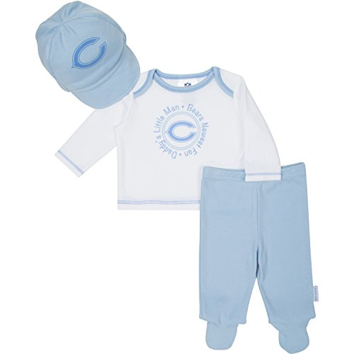 Gerber Baby Boys Chicago Bears Take Me Home Set Top,pant and Cap 0-3 (Cap Chicago Bears Set)