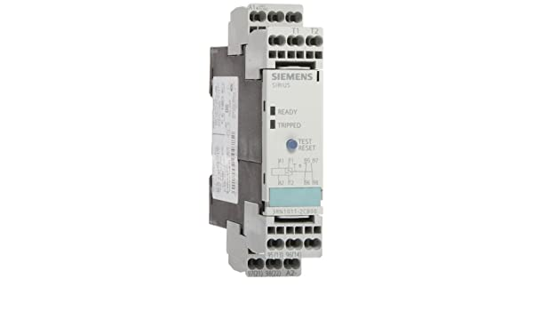 24VAC//VDC Control Supply Voltage 3RF23201CA4 Standard Evaluation Units 2 LEDs 1 NC Contacts 22.5mm Width 1 N Siemens 3RN1012-2CB00 Thermistor Motor Protection Relay Cage Clamp Terminal Manual//Auto//Remote Reset