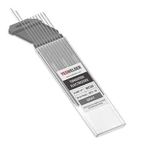 "TIG Welding Tungsten Electrode 2% Ceriated .040"" x 7"" (Gray, EWCe-2) 10-pk YESWELDER"