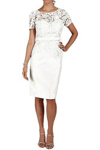 Missdressy - Robe - Crayon - Femme -  Blanc - 34