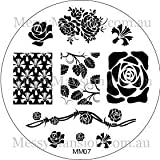 MESSY MANSION MM07 Nail Art Stamping Plate - Roses