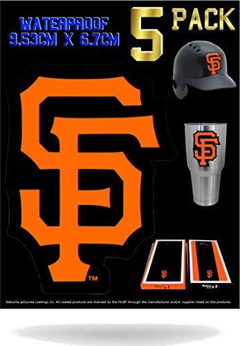Wakuma, SF Giants Vinyl Decal Sticker Set. 2.6 x 3.5 inch 5 Pack    ()