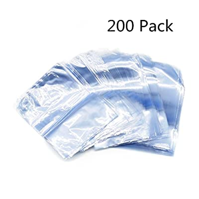 200 Pack Odorless PVC Shrink Wrap Bags for Soaps, Bath Bombs, Bottles, Crafts & DIY Homemade Products, 4 x 6 inch