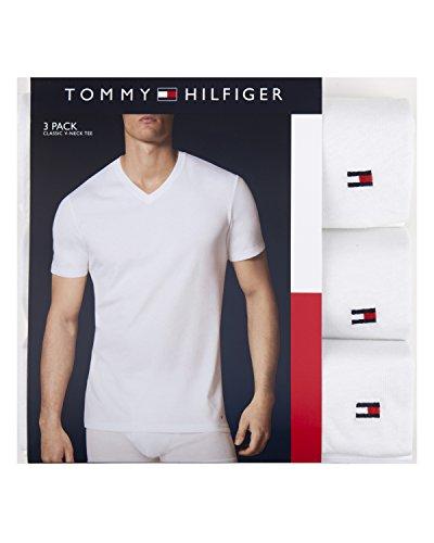 Tommy Hilfiger Men's Flag V Neck Tee
