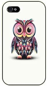 iPhone 6+ Plus Colorful owl art - black plastic case / Nature, Animals, Places Series