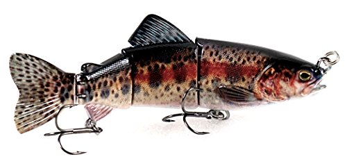"6"" Hinged Lifelike Rainbow Trout Sinking Swimbait Hard Fishing Lure by Eye Candy Fishing Lures"