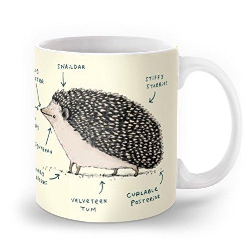 Society6 Anatomy Of A Hedgehog Mug 11 oz