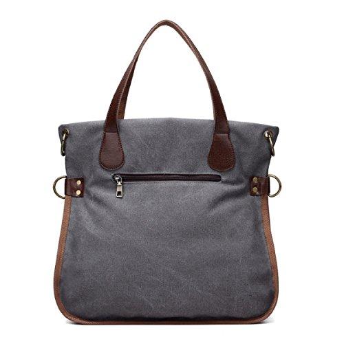 Frauen Jahrgang Leinwand Messenger Aktentasche Schulter Handtasche Seiten Multifunktions Tasche ,A-OneSize
