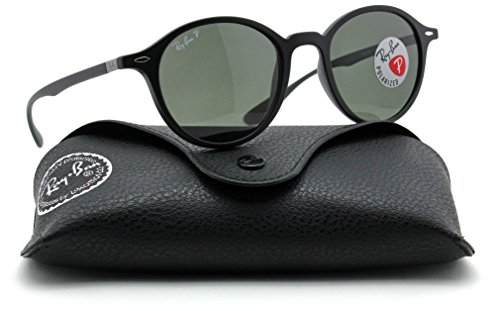 Ray-Ban RB4237 601S58 ROUND LITEFORCE Matte Black Frame / Green Polarized Lens 50mm by Ray-Ban