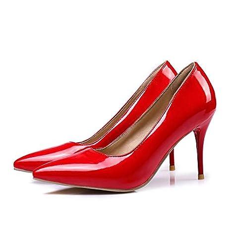 afc6bda366515 Amazon.com: HuWang Plus Size 35-47 Women Pumps Fashion Pointed Toe ...