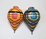 (Pack of 2) Artisan Made Spinning Tops with