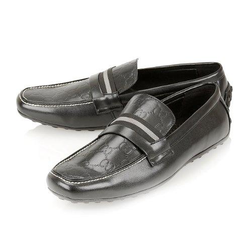 Pu Rento Nahka Innoittamana on Mokkasiinien Slip Mustalla Suunnittelija Kengät Loafers Mens IEwABtwq