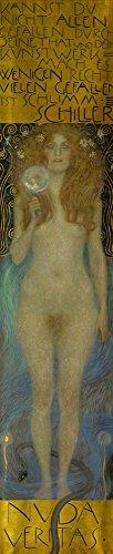 Nuda Veritas, 1899 by Gustav Klimt Art Print, 7 x 36 inches