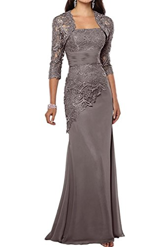 VaniaDress Women Long Mother Of The Bride Dress With Jacket Formal Gowns V263LF Gray US8 from VaniaDress