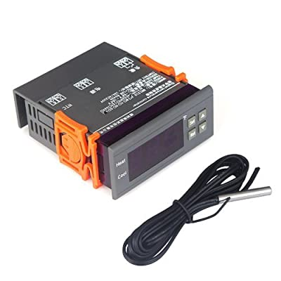 Docooler® Digital Temperature Controller Thermocouple with Sensor (-58~194°F) 10A 110V