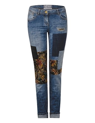 Donna Blu 10235 Blue Wash Straight Used mid Cecil Jeans avwtqUE