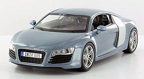 Diecast Blue Car Metallic (Maisto Audi R8 Hard Top, Metallic Blue 31281BU - 1/24 Scale Diecast Model Toy Car)